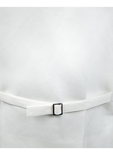 Damat Regular Fit Düz Yelek Beyaz